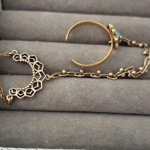 Chloe + Isabel Jewelry - Chloe +Isabel Adjustable Ring/Hand Bracelet